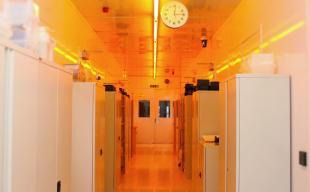 Scottish Microelectronics Centre Cleanroom laboratory corridor