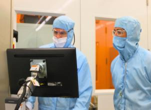 Researchers working at the Scottish Microelectronics Centre